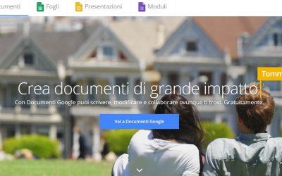 Seo e Marketing Online, con Google Documenti, Fogli, Presentazioni e Moduli